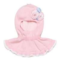 Шлем хлопковый для девочки Chobi sh-1513 цвет розовый