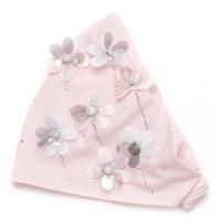 Розовая повязка для девочки с цветочками sh 1568 Chobi