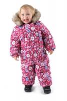 Зимний комбинезон PreMont для малышей W16102 PINK розовый с цветами