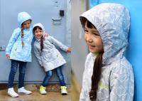 Куртка ветровка Crockid Листья демисезонная на девочку цвет серый