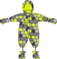 Демисезонный комбинезон Крокид для мальчика цвет серо-лимонный