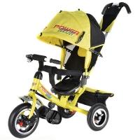 Велосипед трехколесный Трайк NЕОН JP7NY надувные колеса цвет желтый