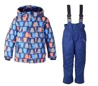Зимний комплект Crockid на мальчика цвет сине-оранжевый